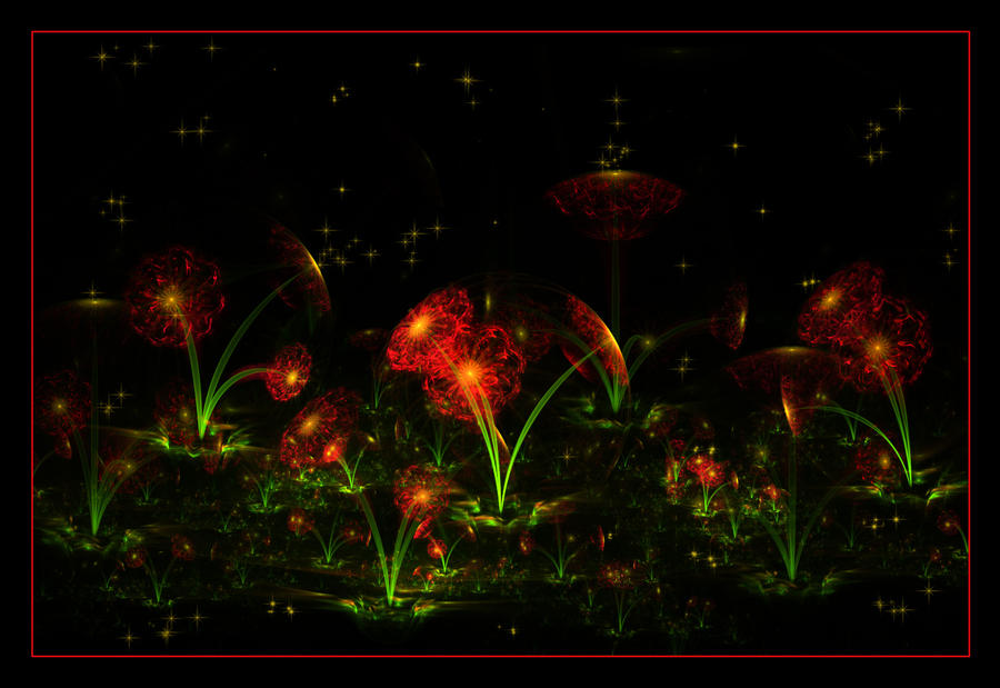 midnight flowers... by FeliFee