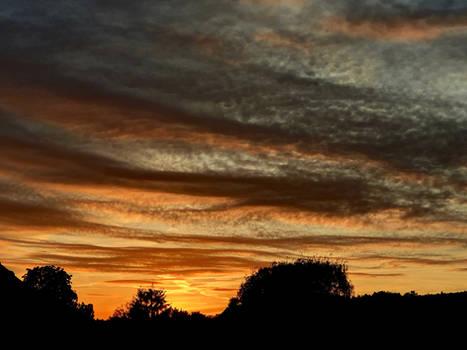 Sun sets down...