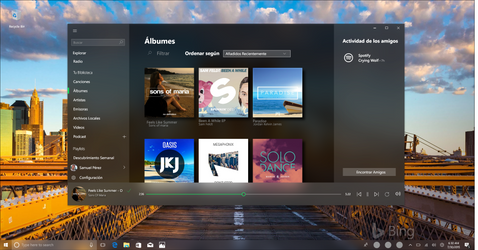 Spotify with Fluen Desing System concep