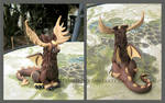 Mr McKinley the Moose Dragon made of Polymer Clay