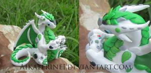 White Green Xbox 360 Polymer Clay Dragon