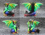 Rainbow Polymer Clay Dragon