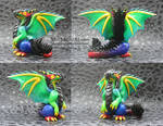 Rainbow Polymer Clay Dragon