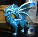 Blue Translucent Dragon, Custom Order