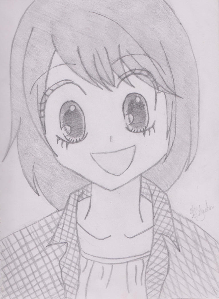 Happy Anime Girl By CrazyMD2 On DeviantArt