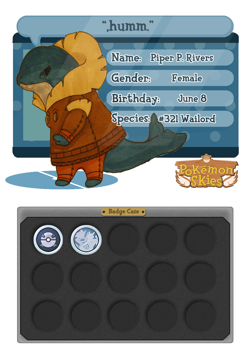 :PKMNSkies: Piper App by SeleneTheWerewolf
