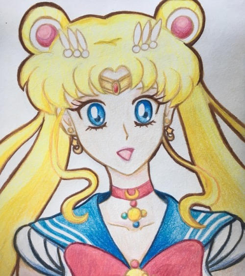 Sailor Moon - coloured pencils