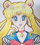 Sailor Moon - coloured pencils