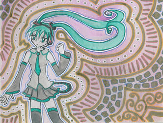 Hatsune Miku and Patterns by unikorn
