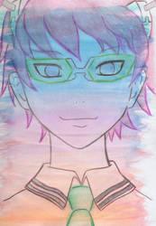 Saiki Kusuo - Watercolor layer experiment