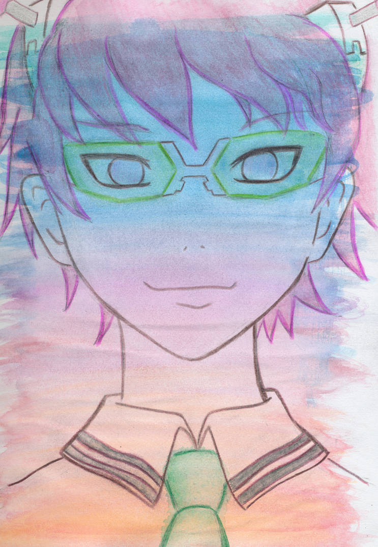 Saiki Kusuo - Watercolor layer experiment by unikorn