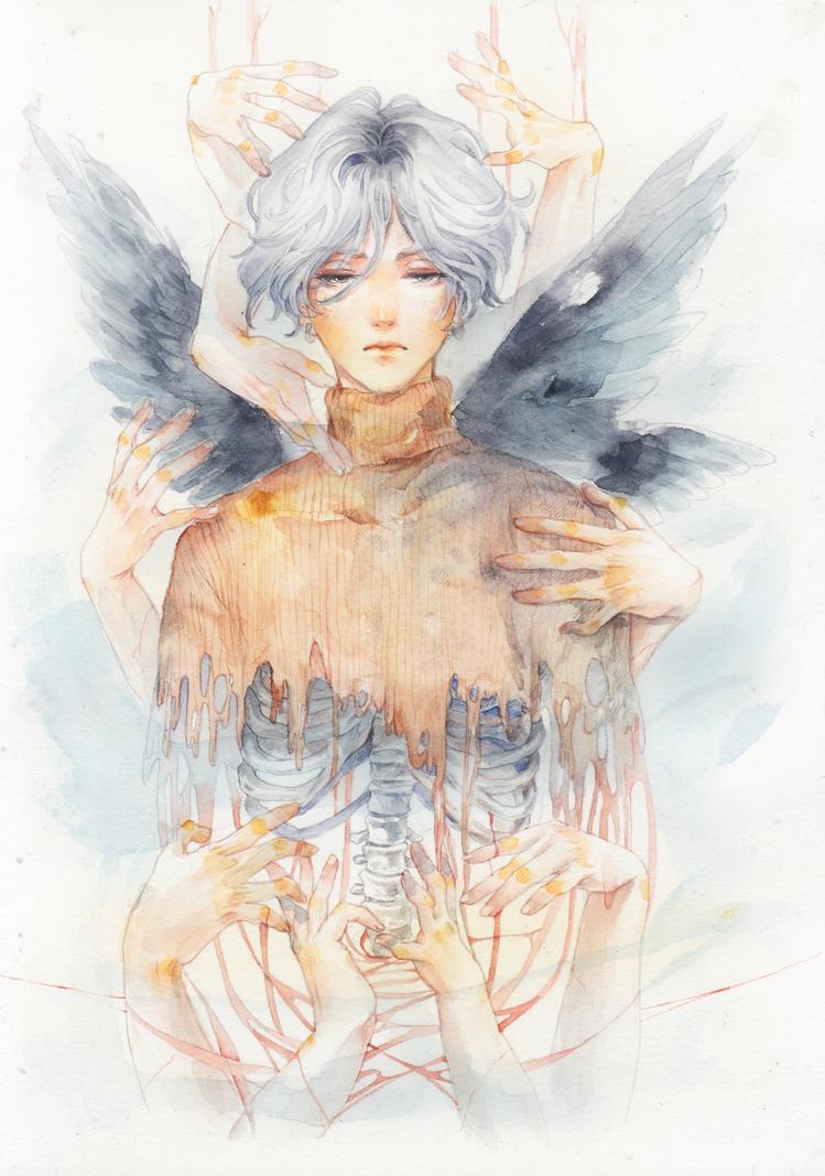 Pitiful face by meomeongungu