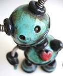 Teal Timmy Grungy Robot