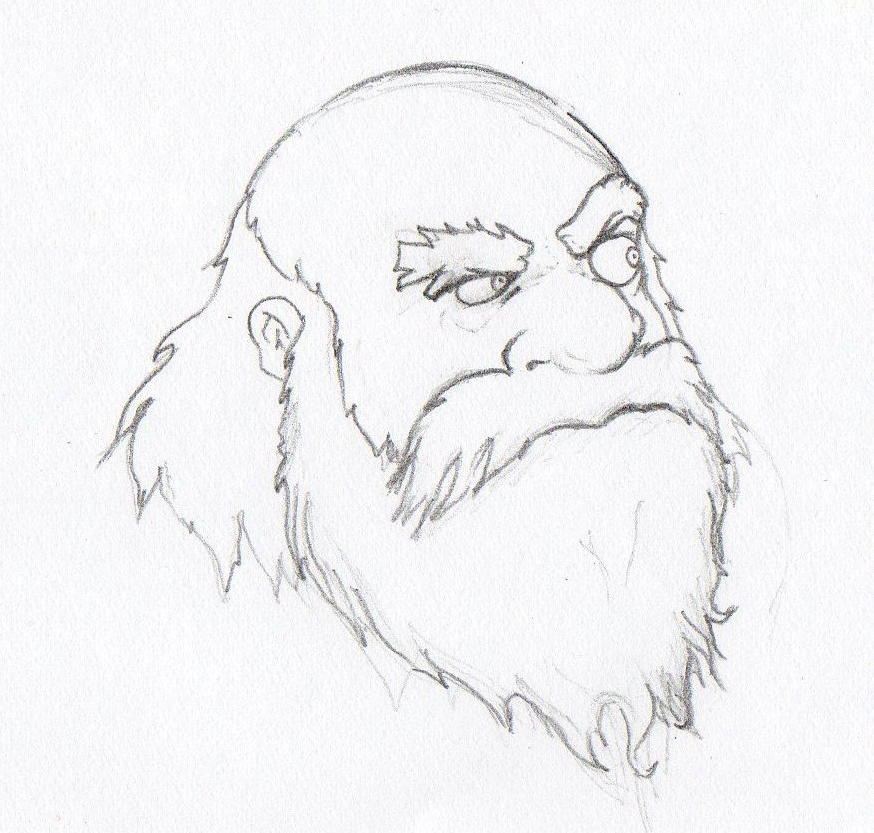 old mans face drawing - photo #34
