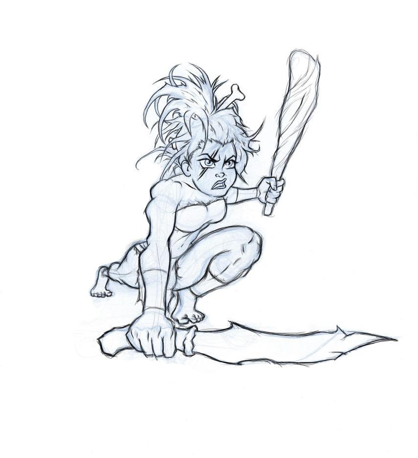 Cavegirl by RagingBarbarian