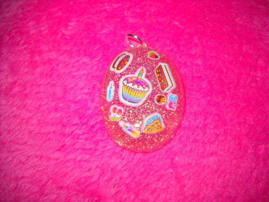 pink sweets resin charm by toxiclysweet