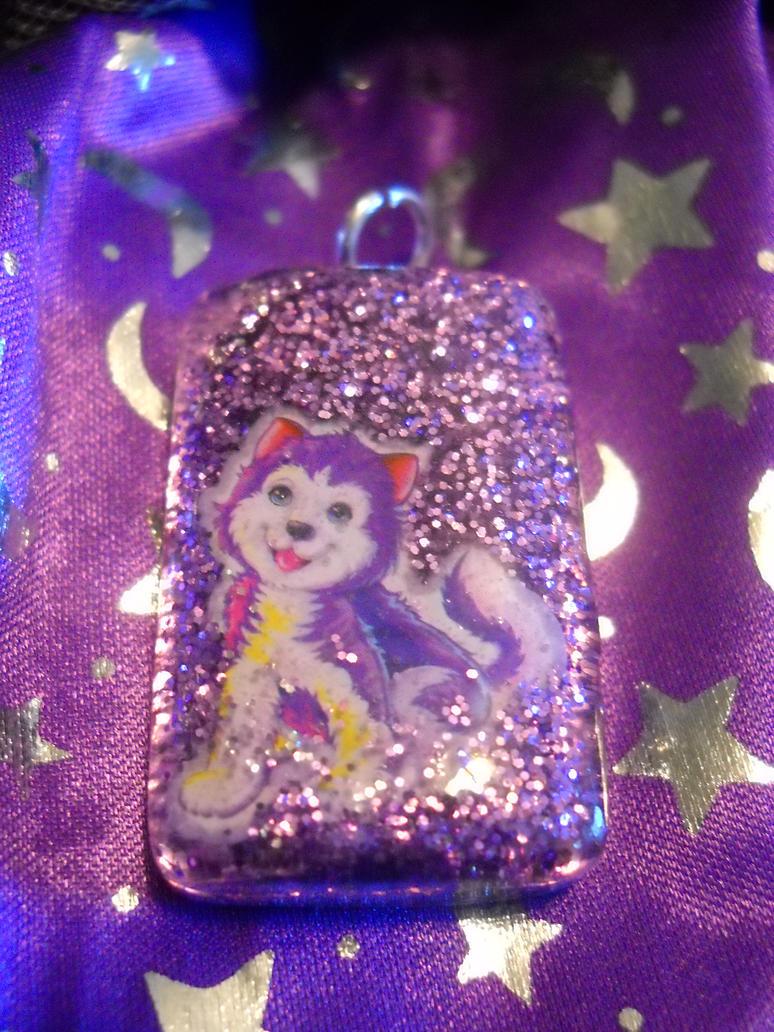 purple husky pup by toxiclysweet