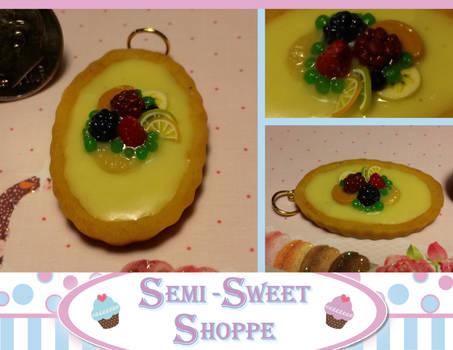 Vanilla Custard Fruit Tart Pendant SOLD
