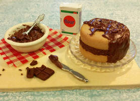 Chocolate Cake Prep Board 1 SOLD by ninja2of8