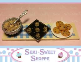 Chocolate Chip Cookie Blue Prep Board Magnet by ninja2of8