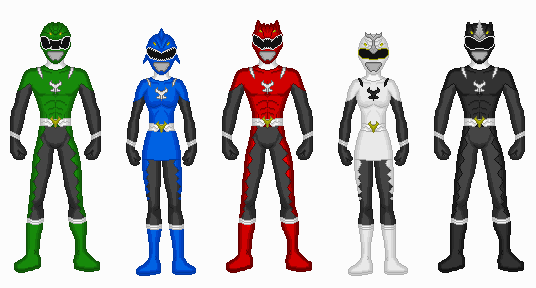 Comission - Power Rangers Primal Fury by Kaiserf11