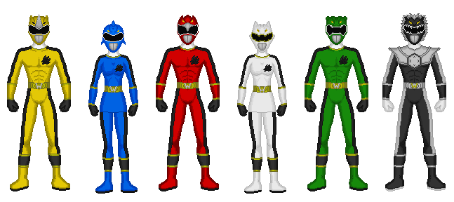 Comission - Power Rangers Wild Enforcers by Kaiserf11