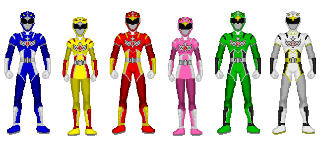 Comission - Power Rangers Wingranger by Kaiserf11