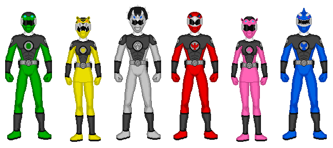 Comission - Power Rangers SHIELD by Kaiserf11