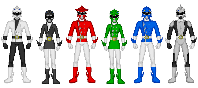 Comission - Power Rangers Marine Life by Kaiserf11