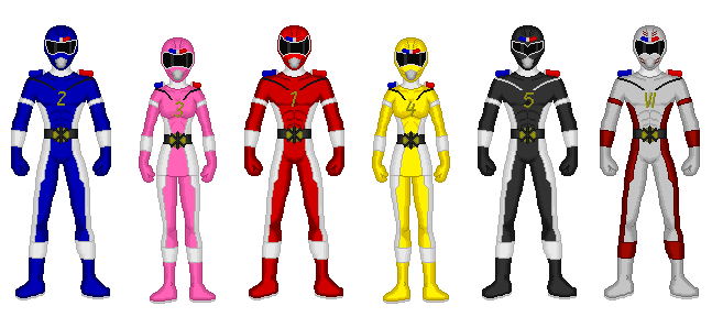 Comission - Power Rangers Rescue Team by Kaiserf11