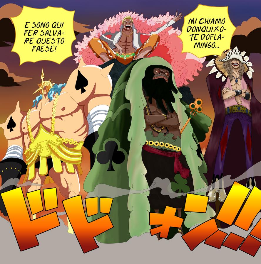 One Piece 7: Doflamingo, Diamante, Trebol and Pica by loreXII