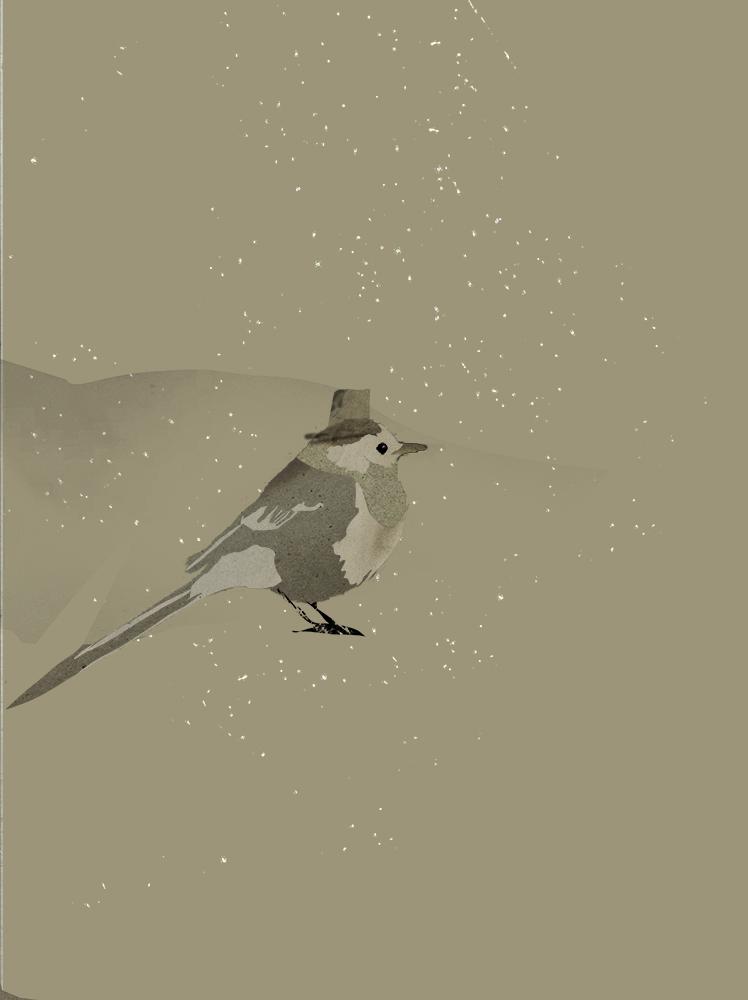 A bird preparing for winter by Villje