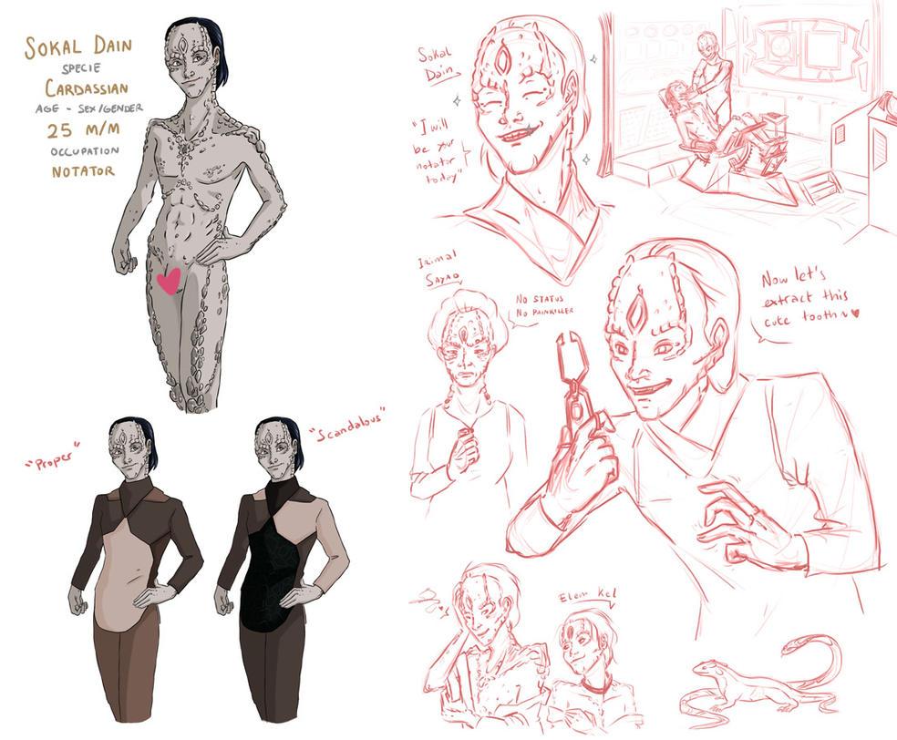 DS9 - Dain sketchdump by noxfoxArts