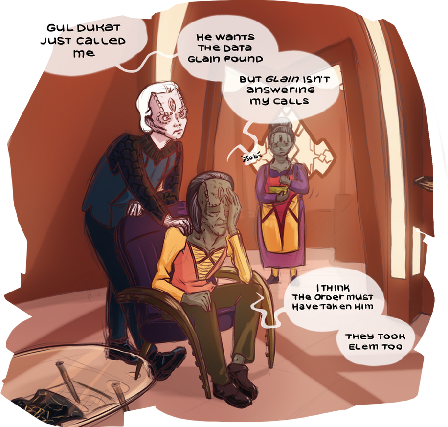 DS9 - A father's concerns by noxfoxArts