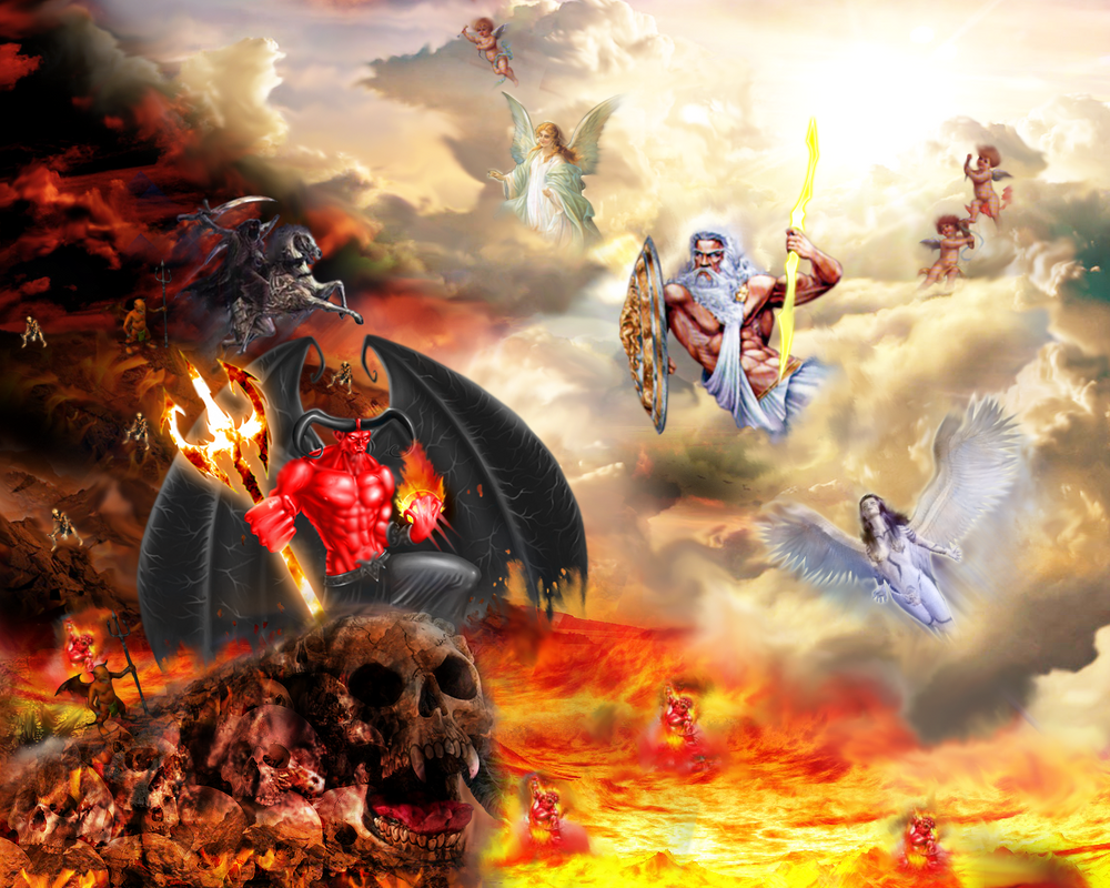 War Between Heaven And Hell by Ruen-GFX on DeviantArt