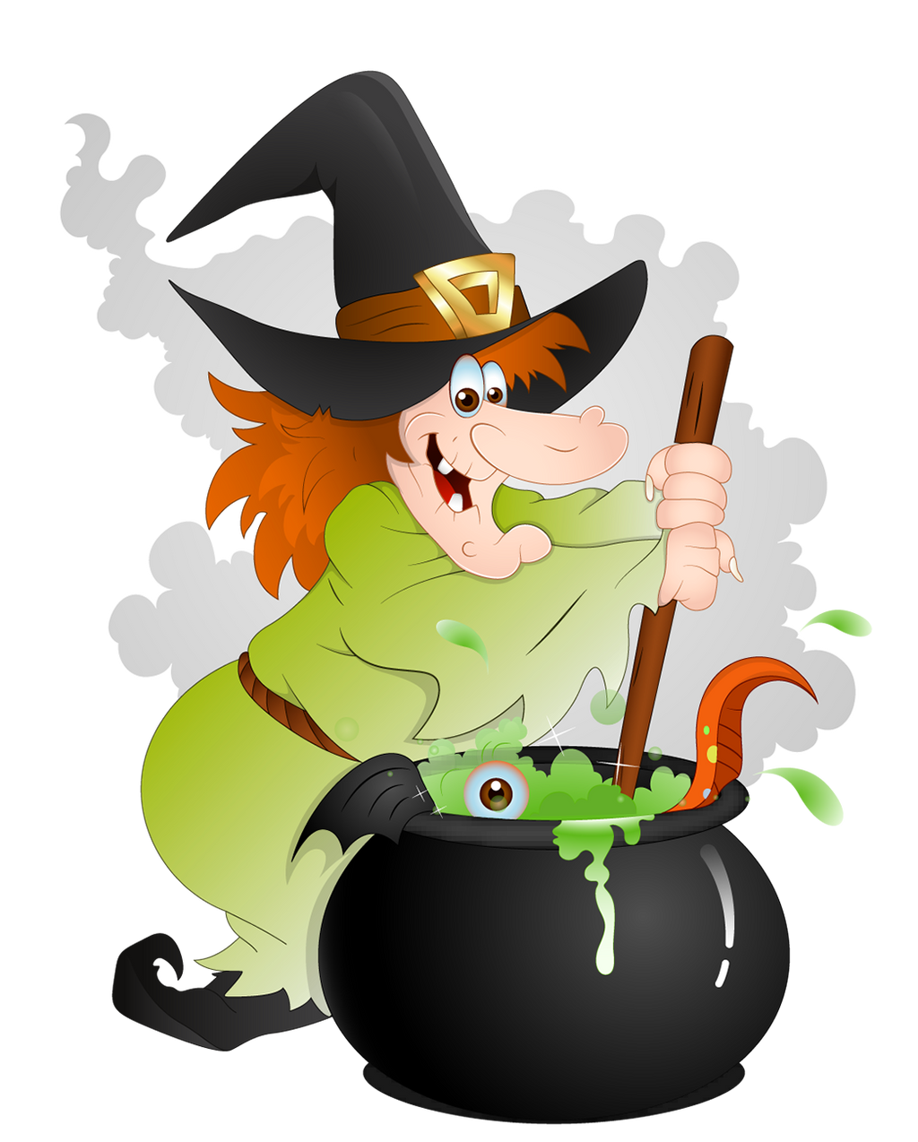 Halloween Witch with Cauldron PNG Clipart by AshleyGirlJava on ...