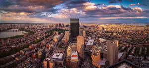 Boston Skyline by F1L1P