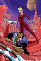 Seven of Nine vs Worf by soyivang
