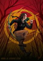 Katniss Everdeen by soyivang
