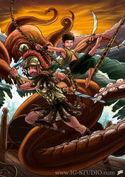Pirate, roman and octopus by soyivang