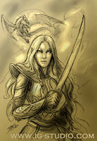 Laurana, The Golden General by soyivang