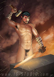 True Beefcakes 19  Swordsmith (nude) by soyivang