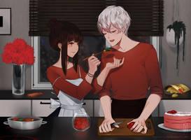 Mystic Messenger -  Choi's family dinner! by DeyMara