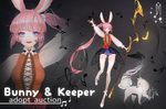 [CLOSED] Adopt Auction - Bunny and Keeper by DeyMara