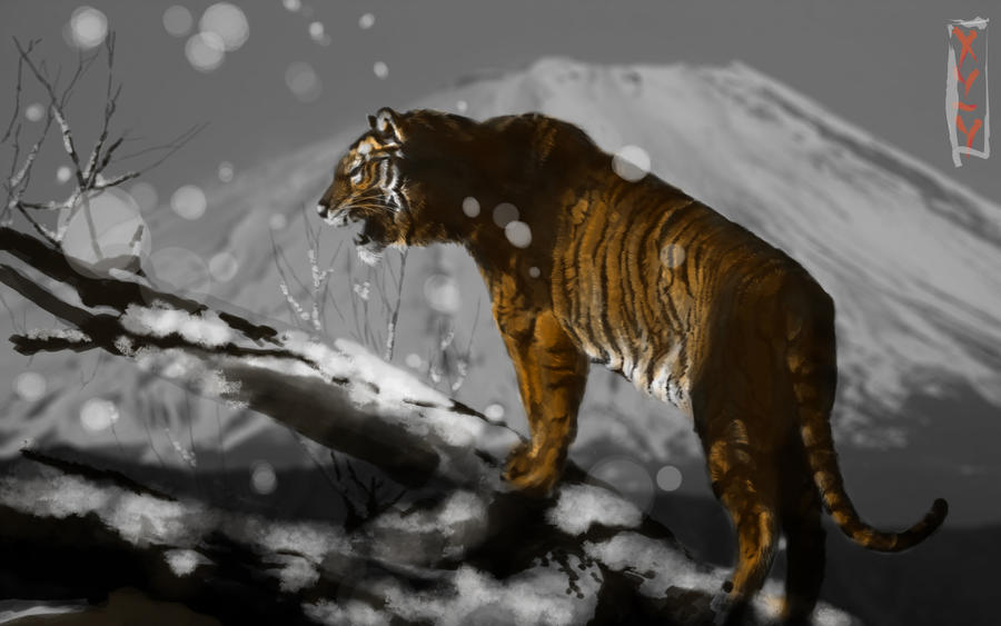 Of Tigers of Snow and Color by HaitianHallow