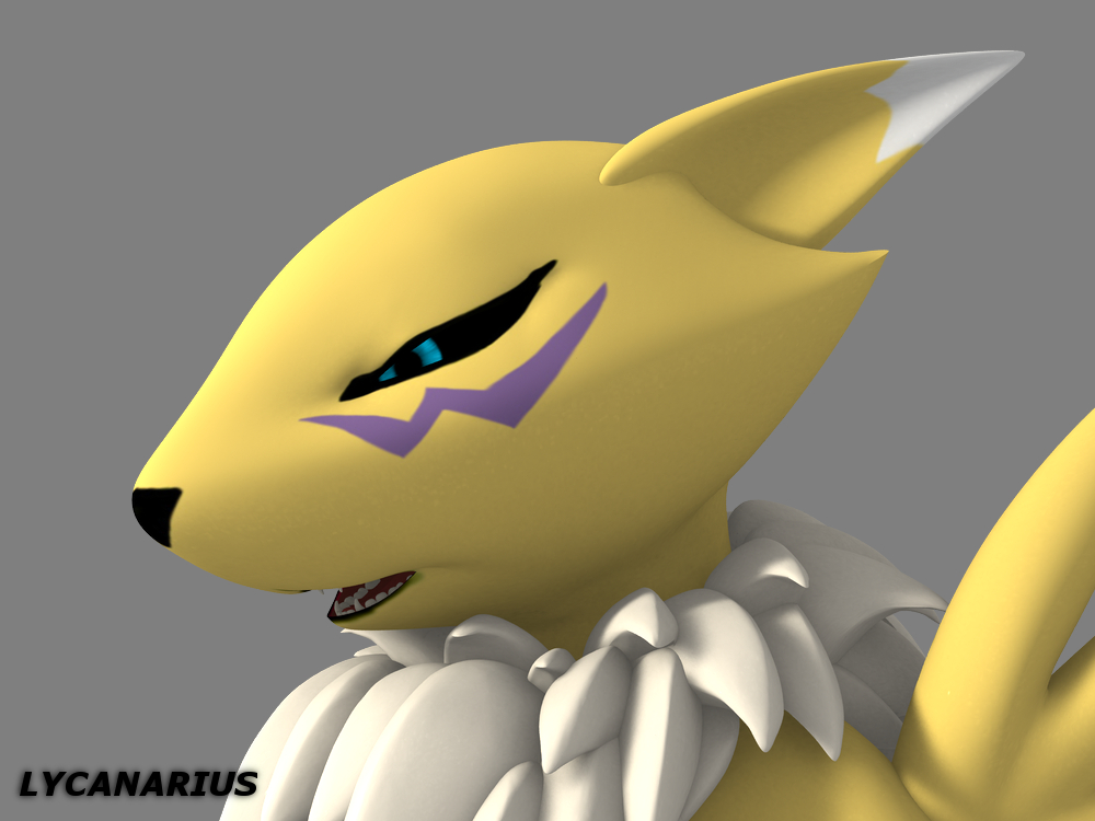 Renamon Expression Test by lycanarius