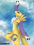Renamon pose 4 - Reach the Sky