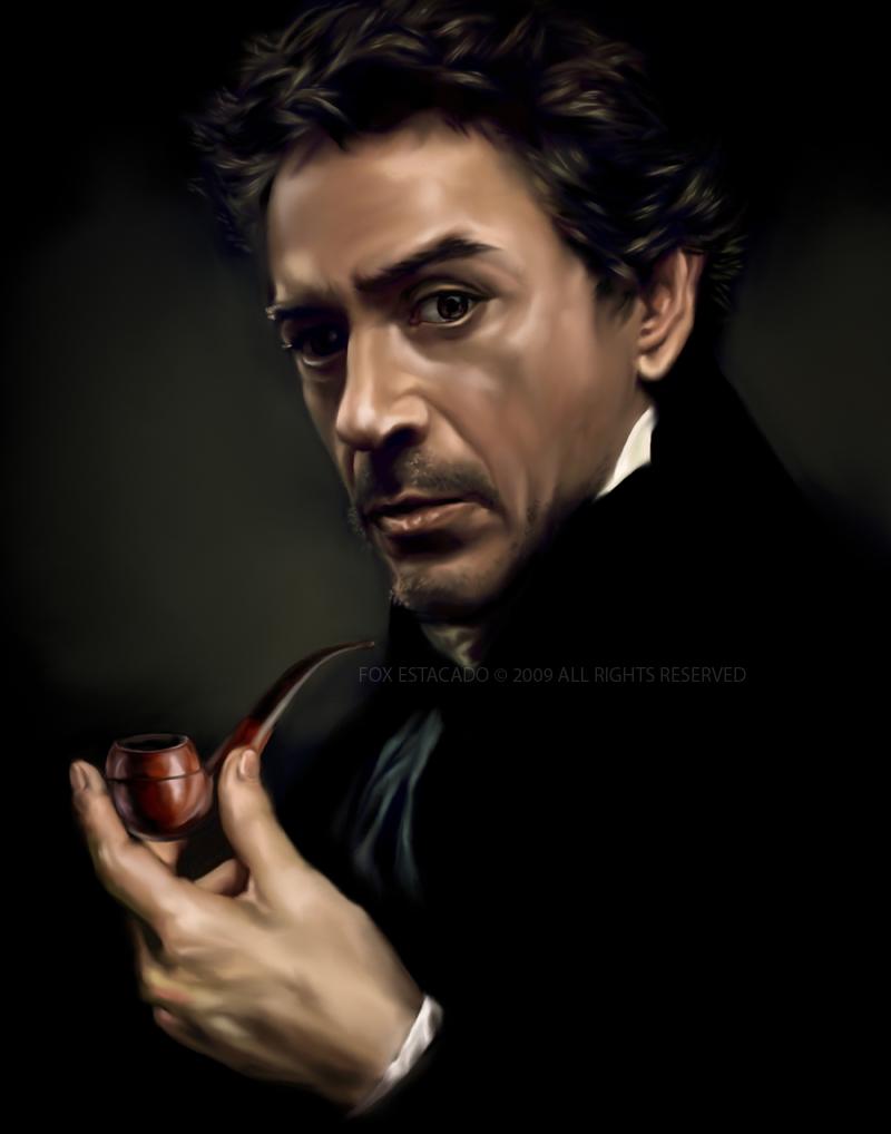 Portrait of Sherlock Holmes by foxestacado