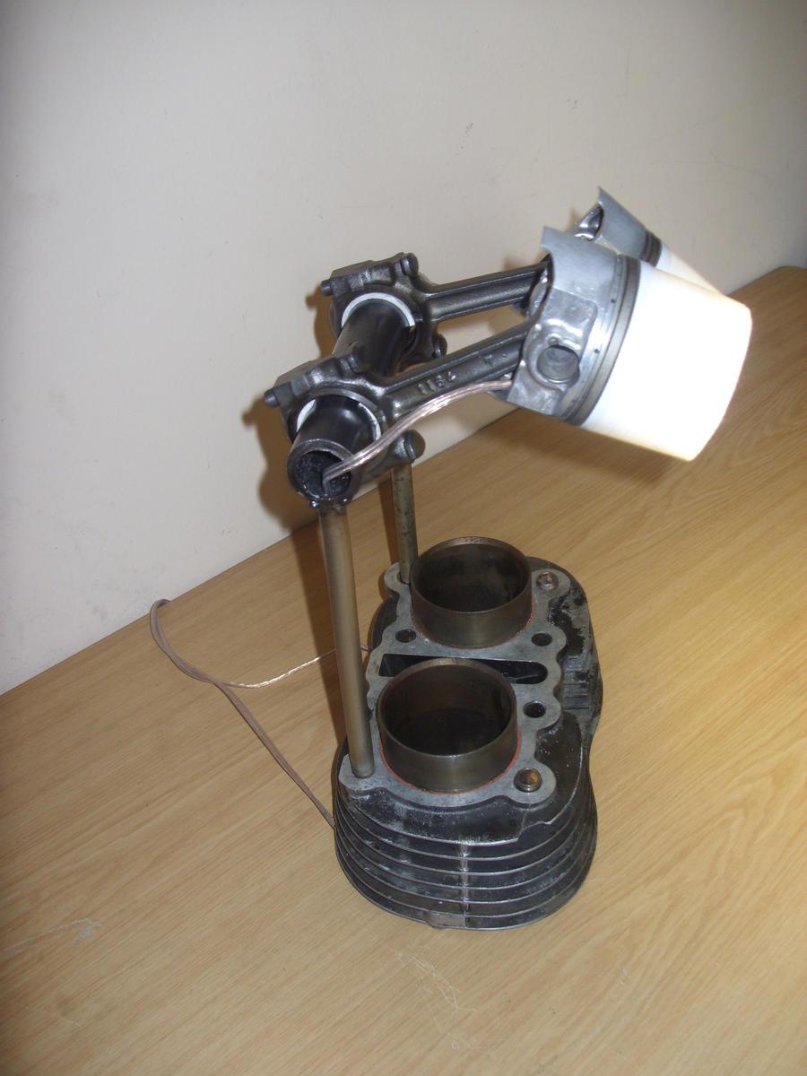 ... Motorcycle Desk Lamp 2 By Hunter Kraven