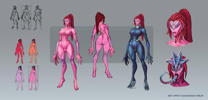 Scaley Randy's alien race commission